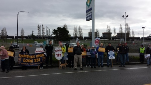 Steelworkers rally